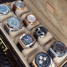 In some cases part of that image is the quantity of money you invested to use a watch with a name like Rolex on it; it is no secret how much watches like that can cost. Fine Watches, Cool Watches, Watches For Men, Audemars Piguet, Luxury Watches, Rolex Watches, Diamond Watches, Ring Armband, Watch Storage