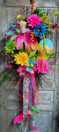 Flip Flop Grapevine Wreath Everyday Wreath Summer Wreath
