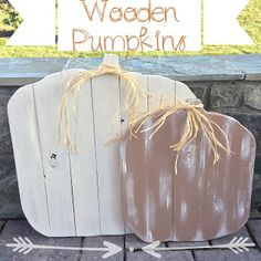 DIY Wooden Pumpkins - the perfect front porch addition for fall! - LeroyLime