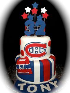 Montreal Canadiens Hockey Cake