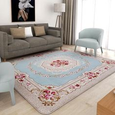 Home Textile Mat United Palace Style Living Room Carpet For Home Decor Bedroom Bedside Thicken Tea Table Mat Sofa Rugs 80*150cm Soft Floor Mats Doormat