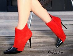 Terry de Havilland red booties red heels crvene štikle