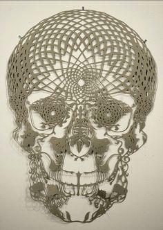 Hunter Stabler--paper art//skulls