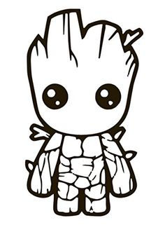 groot galaxy guardians vinyl sticker decal drawing coloring avengers pages window am easy cartoon drawings colouring macbook disney dp