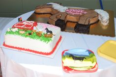 Horse and Barn Cake