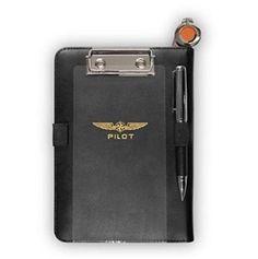 Apple iPad Mini Kneeboard Pilot Leather Black Contact Strips Velcro Fastener Kit