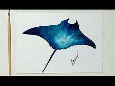 Water color whale tutorial - YouTube