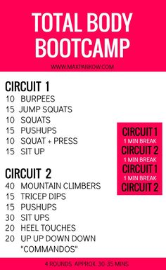 At home total body workout for when your whole body needs a tune up!