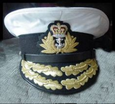 a87f843ba8e32 UK ROYAL NAVY ADMIRAL WHITE HAT. ANY SIZE PRICE US 95.00 PLUS S H COLUMBIA  PRODUCTS MADE