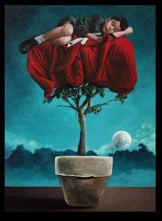 Title: a quiescent mind  Size- 46cm x 63cm Medium- Water Miscible Oil Paint
