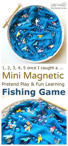DIY Mini Magnetic Fishing Game for Pretend Play and Fun Learning for Toddlers and Preschoolers | Little Worlds Big Adventures