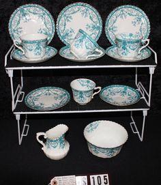 Royal Albert Crown Fine Bone China Eton Pattern 1270 Antique Tea Set TS105