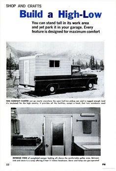 Build a truck camper   May 1966 Popular Mechanics - Google Books