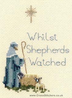 Shepherd Christmas Greetings Card Cross Stitch Kit - for stocking cuff 1