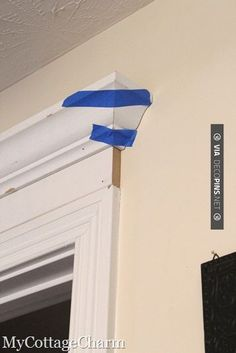 So neat! - how to add molding to your doors | CHECK OUT MORE CROWN MOLDING AND DIY CROWN ....