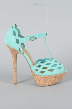 I probably couldn't walk in these but I love the color :)