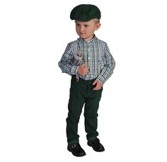Boys Dapper in Plaid Suspendered Pant Set w/Cap http://www.woodensoldier.com/toddler-boys-holiday-outfits/G2601.html