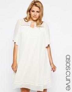 ASOS CURVE Exclusive Pretty Swing Dress In Vintage Look