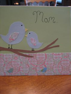 Mum and Baby Birds Card Crafts, Crafts To Do, Paper Crafts, Diy Crafts, Card Making Tips, Making Cards, Making Ideas, Scrapbook Cards, Scrapbooking