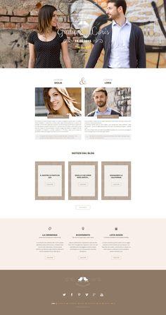 Giulia & Loris Wedding Website #wedding #website #web #webdesign #honeymoon Website Web, Wedding Website, Web Design, Shopping, Design Web, Website Designs