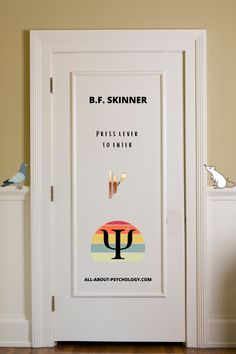 Click lever on door image to learn all about the life and work of psychology legend B.F. Skinner. #psychology #BFSkinner #PsychologyStudents #Psychologymajors Psychology Student, Door Images, Students, Learning, Life, Studying, Teaching, Onderwijs