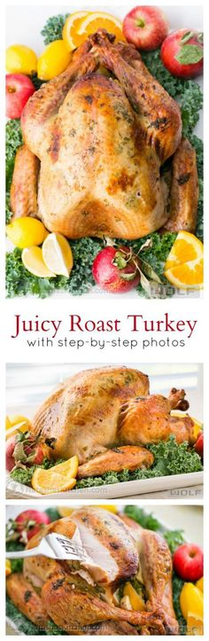 Juicy Roast Turkey Recipe with Step by Step Instructions | Natasha's Kitchen - The BEST Classic, Improved and Traditional Thanksgiving Dinner Menu Favorites Recipes - Main Dishes, Side Dishes, Appetizers, Salads, Yummy Desserts and more!