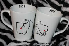 From Bisons to Buckeyes, and Beyond: DIY: Long-Distance-Best-Friends Coffee Mugs