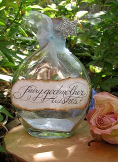 Fairy Godmother Wishes Bottle by wanderingmermaid on Etsy