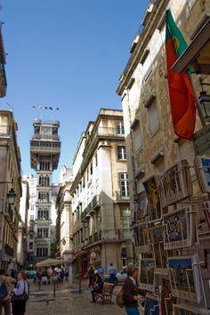 Santa Justa Lift in Lisbon, Portugal.