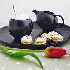 """Happiness is not something you postpone for the future; it is something you design for the present.""  ~ Jim Rohn  Eva milk pitcher, sugar bowl and platter, available in black matte stoneware or glossy white porcelain.  #happy #design #evateaware #macarons #blackmatte #lifestyleceramics #etsyseller #differencemakesus #etsysuccess #EtsySmallBusiness #simplepleasures #evazeisel #afternoontea #teaclub #teaporn #teathings #teatime #teablogger #timefortea #teaplease #welovetea #tealover…"