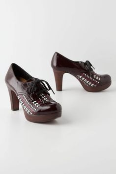 Open Book Heeled Oxfords