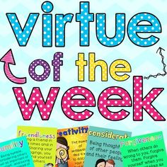 Perfect for Catholic, Christian, Private, or Public Schools This product can help you teach your students about virtues and how to practice them in their…