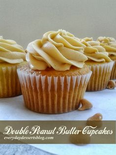 Everyday Desserts: Double Peanut Butter Cupcakes