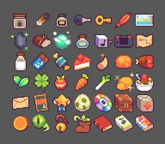 Game Design and concept art schools to make indie game Faire Du Pixel Art, Piskel Art, Pixel Art Games, Pixel Art Food, Modele Pixel Art, 8 Bit Art, Anime Pixel Art, Perler Bead Art, Perler Beads