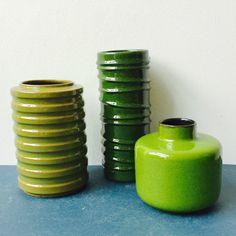 Ein persönlicher Favorit aus meinem Etsy-Shop https://www.etsy.com/de/listing/534280867/3x-vase-melitta-green-orange-ceramics