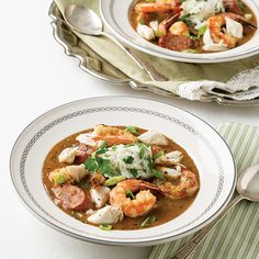 Gumbo embodies the diverse cultures of south Louisiana with seamless perfection and brings us together around the table. It's pure comfort over rice, and nourishes the soul right down to the last inexplicably opulent bite. In this version of seafood gumbo, we've included a rich shrimp stock, spicy andouille sausage, and decadent lump crabmeat. Whether