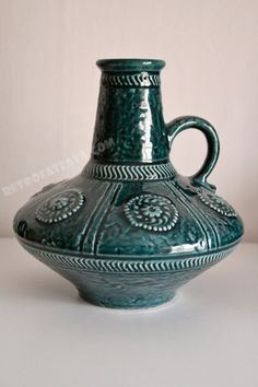 Green West German Jasba  Keramik vase  marked 1648 by RetroFatLava, €45.00