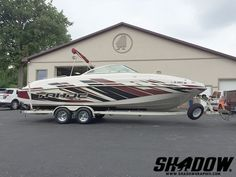 This wrap is ready for some summer fun in 3M IJ180 & 8548. Thanks Shadow Graphix (shadowgraphix.com) Boat Wraps, Thunder, Summer Fun, Boats, Sick, Ships, Summer Fun List, Summer Activities, Boat