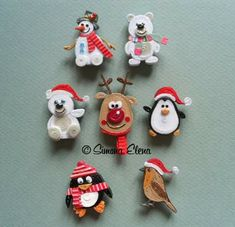 Cute Christmas quilling                                                                                                                                                      More