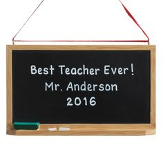 The perfect personalized ornament for that special teacher!