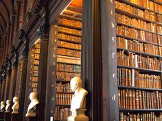 Old Library at Trinity College in Dublin