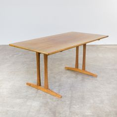 C18 shaker dining table by Børge Mogensen for FDB Møbler, 1960s