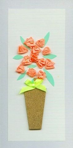 Lovely diy birthday card. Could be also good for Mother's Day