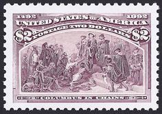 United States Scott #2628c (22 May 1992) Columbus in Chains.