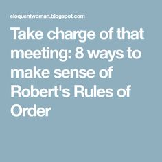 How To Take Meeting Minutes With RobertS Rules Of Order  Pta