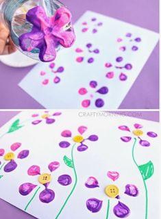 Mi mundo entre pañales: TÉCNICAS PLÁSTICAS Diy And Crafts, Crafts For Kids, Arts And Crafts, Spring Activities, Preschool Activities, 4 Kids, Art For Kids, Business For Kids, Spring Crafts