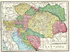 1902 Antique AUSTRIA Map Vintage Map of Austria and Hungary Wall Art Library Home Office Decor Anniversary Gift for Birthday Wedding 9455 by plaindealing on Etsy Vintage Maps, Antique Maps, Austria Map, Collage Kunst, World Map Decor, Old Maps, Historical Maps, Fish Art, Horse Art