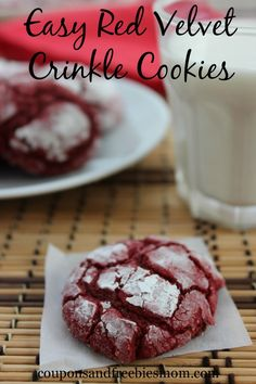 Check out these Easy Red Velvet Crinkle Cookies today!  Semi-homemade and so quick to whip up they are the best in chocolate, delicious cookies without hours of work! Perfect for a classy and sophisticated Valentine's Day treat for your adult friends yet easy enough for the kids to enjoy as well.