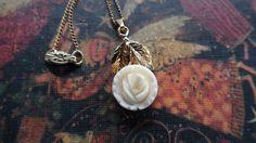 Karen Lynne Rose Gold 12KGF Carved Celluloid by ChicAvantGarde,