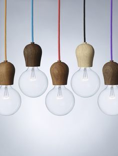 Bright Sprout is a wooden fixture designed to hide the light bulb socket on energy saving bulbs. With its soft, Nordic design it turns an important everyday function into an aesthetic experience…